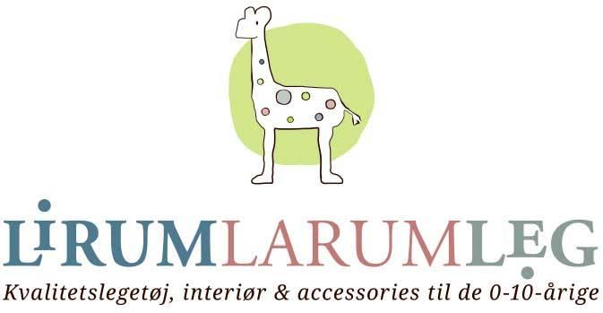 Lirum Larum Leg logo / link til butikkside