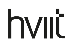 Hviit logo / link til butikkside