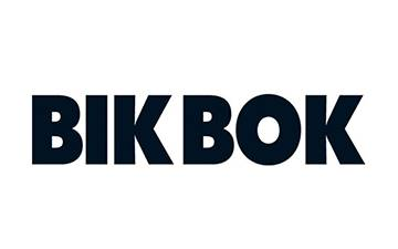 Bik Bok logo / link til butikkside